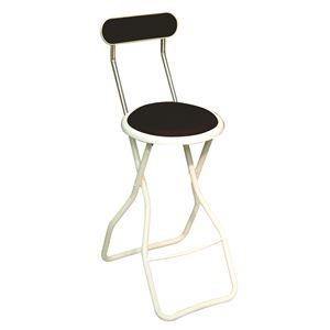 その他 折りたたみ椅子 【4脚セット マルーンブラウン×ミルキーホワイト】 幅35cm 日本製 スチール 【代引不可】 ds-2154338