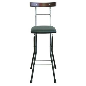 その他 折りたたみ椅子 【ブラック×ブラック+ダークブラウン】 幅34cm 日本製 スチールパイプ 【代引不可】 ds-2154348