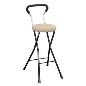 その他 折りたたみ椅子 【4脚セット アイボリー×ブラック】 幅36cm 日本製 スチールパイプ 『ソニッククッションチェア ハイ』【代引不可】 ds-2154377