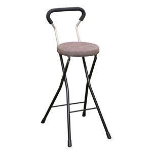 その他 折りたたみ椅子 【4脚セット ブラウン×ブラック】 幅36cm 日本製 スチールパイプ 『ソニッククッションチェア ハイ』【代引不可】 ds-2154378