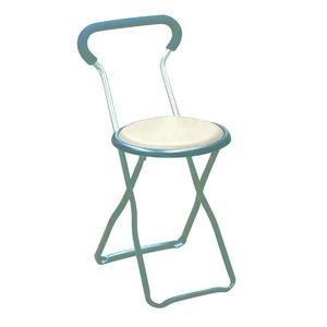 その他 折りたたみ椅子 【4脚セット ホワイト×ブラック】 幅32cm 日本製 スチールパイプ 【代引不可】 ds-2154380