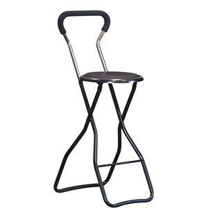 その他 折りたたみ椅子 【4脚セット ブラック×ブラック】 幅35cm 日本製 スチールパイプ 『ソニックチェア ハイ』【代引不可】 ds-2154381