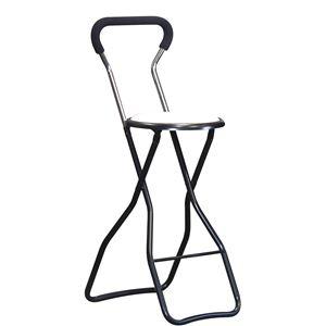 その他 折りたたみ椅子 【4脚セット ホワイト×ブラック】 幅35cm 日本製 スチールパイプ 『ソニックチェア ハイ』【代引不可】 ds-2154382