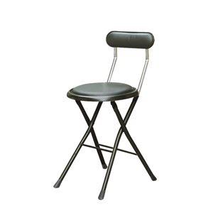 その他 折りたたみ椅子 【同色6脚セット ブラック×ブラック】 幅33cm 日本製 スチールパイプ 『ニューニーダー』【代引不可】 ds-2154384
