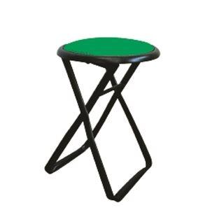 その他 折りたたみ椅子 【6脚セット グリーン×ブラック】 幅32cm 日本製 スチールパイプ 『キャプテンチェア』【代引不可】 ds-2154402