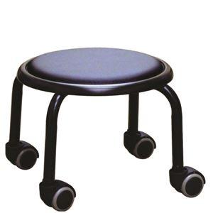 その他 スタッキングチェア/丸椅子 【同色4脚セット ブラック×ブラック】 幅32cm 日本製 スチール 【代引不可】 ds-2154491
