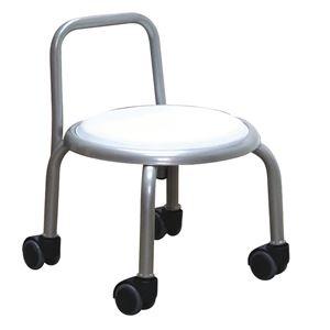 その他 スタッキングチェア/丸椅子 【同色3脚セット ホワイト×シルバー】 幅32cm 日本製 【代引不可】 ds-2154507