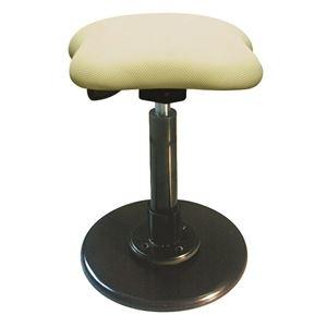 その他 モダン スツール/丸椅子 【アイボリー×ブラック】 幅33cm 日本製 スチールパイプ 【代引不可】 ds-2154540