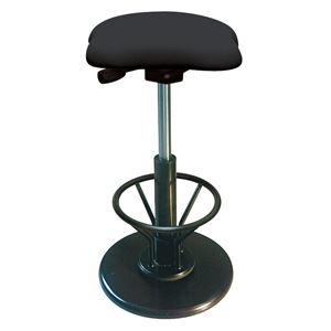 その他 モダン スツール/丸椅子 【フットレスト付き ブラック×ブラック】 幅33cm 日本製 『ツイストスツールラフレシア3R』【代引不可】 ds-2154541