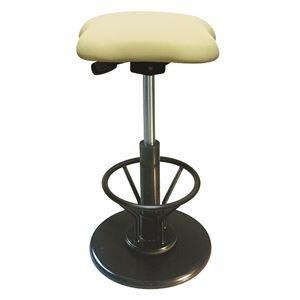 その他 モダン スツール/丸椅子 【フットレスト付き アイボリー×ブラック】 幅33cm 日本製 『ツイストスツールラフレシア3R』【代引不可】 ds-2154544
