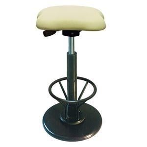 その他 モダン スツール/丸椅子 【フットレスト付き アイボリー×ブラック】 幅33cm 日本製 『ツイストスツールラフレシア KモーR』【代引不可】 ds-2154552