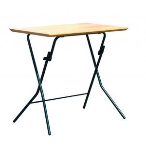 その他 折りたたみテーブル 【幅75cm ナチュラル×ブラック】 日本製 木製 スチールパイプ 『スタンドタッチテーブル755』【代引不可】 ds-2154578