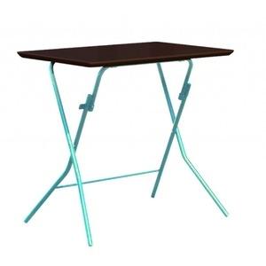 その他 折りたたみテーブル 【幅75cm ダークブラウン×シルバー】 日本製 木製 スチールパイプ 『スタンドタッチテーブル755』【代引不可】 ds-2154581