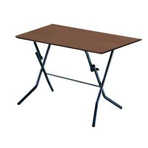 その他 折りたたみテーブル 【幅90cm ダークブラウン×ブラック】 日本製 木製 スチールパイプ 『スタンドタッチテーブル900』【代引不可】 ds-2154584