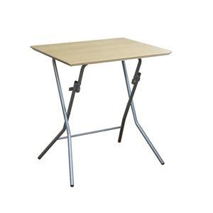 その他 折りたたみテーブル 【幅63.5cm ナチュラル×シルバー】 日本製 木製 スチールパイプ 『スタンドタッチテーブル645』【代引不可】 ds-2154587