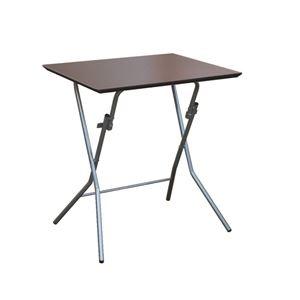 その他 折りたたみテーブル 【幅63.5cm ダークブラウン×ブラック】 日本製 木製 スチールパイプ 『スタンドタッチテーブル645』【代引不可】 ds-2154588