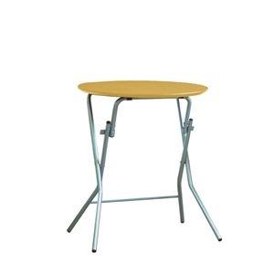 その他 折りたたみテーブル 【幅63.5cm 円形 ナチュラル×シルバー】 日本製 木製 スチールパイプ 『スタンドタッチテーブル60』【代引不可】 ds-2154591