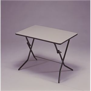 その他 折りたたみテーブル 【幅90cm ニューグレー×ブラック】 日本製 スチールパイプ 『スタンドタッチテーブル』【代引不可】 ds-2154594