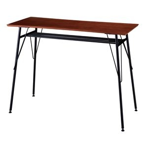 その他 モダン カウンターテーブル/ハイテーブル 【ブラウン】 幅120×奥行45×高さ87cm スチールフレーム【代引不可】 ds-2154647