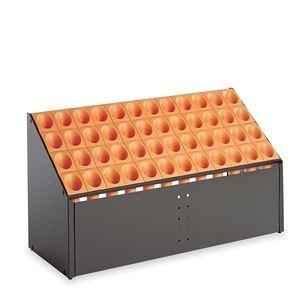 その他 モダン 傘立て 【C48 オレンジ 48本立】 幅972mm スチール 樹脂製脚付 テラモト 『オブリークアーバン』 〔会社 店舗 玄関〕 ds-2151642