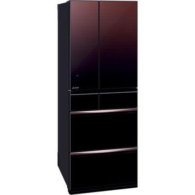 三菱電機 6ドア 527L 置けるスマート大容量 MXシリーズ 冷蔵庫 (グラデーションブラウン) MR-MX57E-ZT