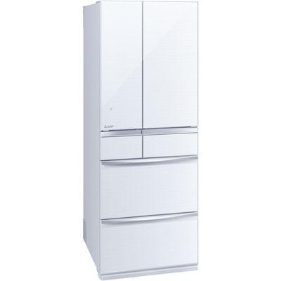 三菱電機 6ドア 527L 置けるスマート大容量 MXシリーズ 冷蔵庫 (クリスタルホワイト) MR-MX57E-W