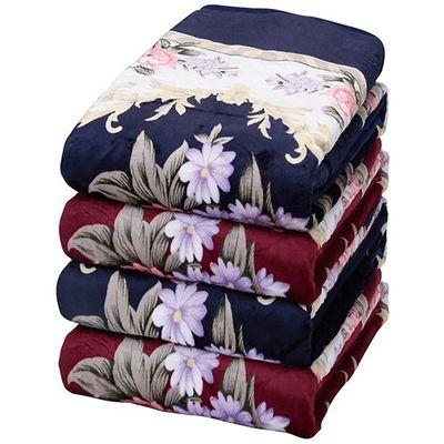 ファミリー・ライフ 遠赤綿入り3層ボリュームマイヤー毛布シンク2色4枚組 1セット 4589978089355【納期目安:2週間】