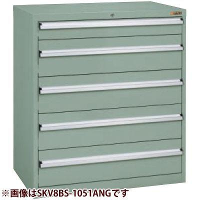 サカエ 重量キャビネットSKVタイプ(ボールスライドレール仕様) (グリーングレー) SKV8BS-1061ANG
