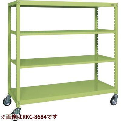 サカエ キャスターラックRK型 (グリーン) RKC-5654