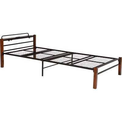 HAGIHARA(ハギハラ) シングルベッド(ブラウンブラック) KH-3087BKS 2090920500