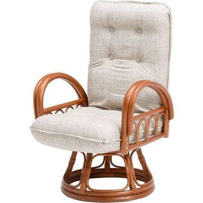 HAGIHARA(ハギハラ) 籐ギア付回転座椅子 RZ-1065BR 2101851000