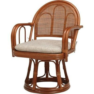 HAGIHARA(ハギハラ) 【2個セット】籐回転座椅子 RZ-943BR 2101840000