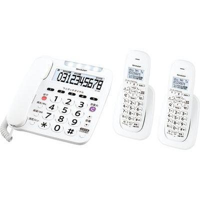 シャープ デジタルコードレス電話機 親機1台+子機2台 ホワイト系 JD-V38CW【納期目安:約10営業日】