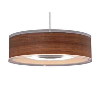 アイリスオーヤマ LEDデザインペンダントライト:浅型:調光(12畳)ウォールナット PLM12D-ADWN【納期目安:1週間】
