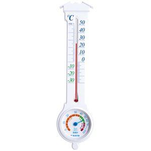 その他 佐藤計量器 温湿度計 ミルノEXホワイト 1031-00 10個 ds-2157781