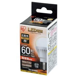 その他 (まとめ) アイリスオーヤマ LED電球60W E17 広配 電球 LDA8L-G-E17-6T5【×10セット】 ds-2158518