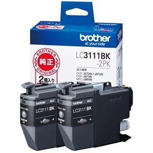 その他 (まとめ) ブラザー インクカートリッジLC3111BK-2PK【×5セット】 ds-2159494