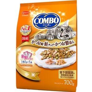 その他 (まとめ)コンボ キャット かつお味・鮭チップ・かつお節添え 700g【×12セット】【ペット用品・猫用フード】 ds-2161950