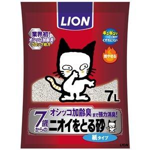 その他 (まとめ)ニオイをとる砂 7歳以上用 紙タイプ 7L【×7セット】【ペット用品・猫用】 ds-2162314