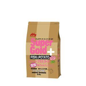 その他 (まとめ)スーパーゴールド フィッシュ&ポテト プラスライト 肥満・関節の健康に配慮 2.4kg【×4セット】【ペット用品・ペット用フード】 ds-2162551