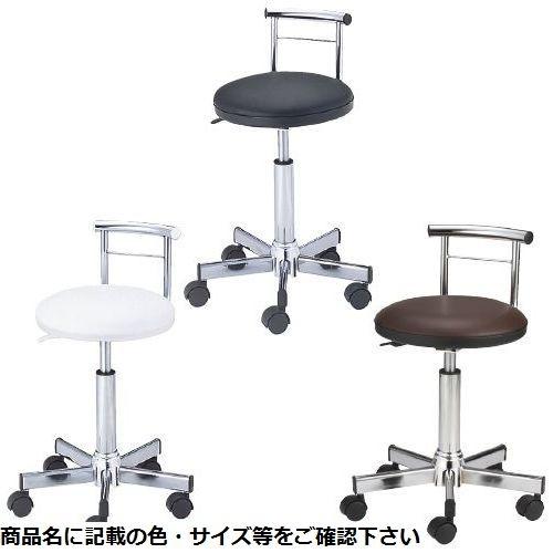 松吉医科器械 SNナースチェア(背付) SN-CH006W(ホワイト) 23-6206-00【納期目安:1週間】