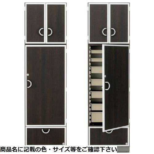 サカセ化学工業 ハーモプラスコンフォートキャビネット HP-S6110(ホンタイ:ブラウン) トレー:ベージュ 24-3386-0001【納期目安:1週間】