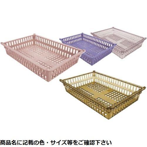 サカセ化学工業 プラスチックバスケット PBM×64-10(アンバー) 01-2547-04【納期目安:1週間】