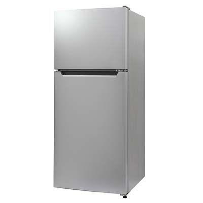 エスキュービズム 左右ドア開きに対応 2ドア 冷凍/冷蔵庫 118L (シルバー) RM-118L02SL