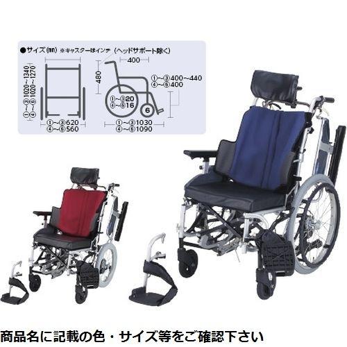 日進医療器 ティルト車いす 座王(自走用) NA-F7(420mm) ワインレッド CMD-0087490702【納期目安:1週間】
