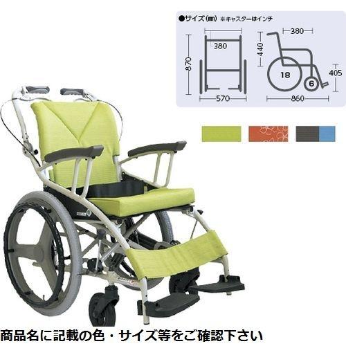 カワムラサイクル 歩行車いす(アルミ製) AY18-38 花柄オレンジNo.84 CMD-0087182502