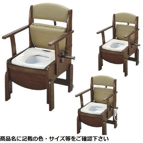 リッチェル 木製トイレ きらくコンパクト 18530(ダンボウベンザ) 24-2499-02【納期目安:1週間】
