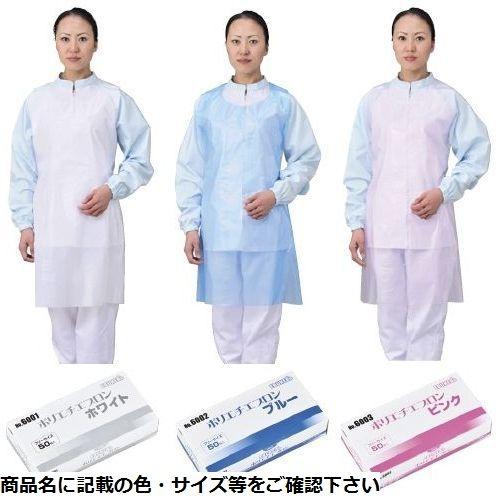 エブノ 【20個セット】エブケアポリエチエプロン(袖無タイプ 6002(ブルー)50枚 CMD-00118713