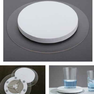 その他 【5個セット】室内用小型免震装置グラレス 207×20mm CMD-00876595【納期目安:1週間】
