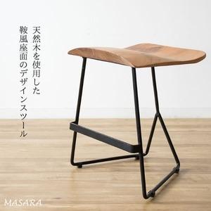 その他 木製スツール 天然木 腰掛椅子 masara マサラ 天然木スツール 座面高さ45cm スツール 椅子 アカシア 木製 ドレッサー デスク 玄関 リビング KNC-L421【代引不可】 ds-2151574